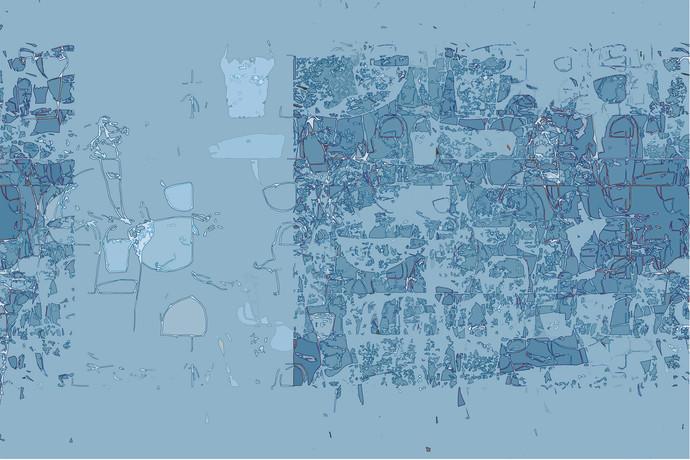 untitled 1302 by Arvind Patel, Digital Digital Art, Digital Print on Archival Paper, Cyan color