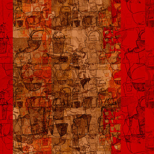 untitled 1304 by Arvind Patel, Digital Digital Art, Digital Print on Archival Paper, Red color