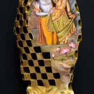 Mukul mishra  me in krishna love i   23x5x6.25 inches  marble  brass   jaisalmer stone mm 1156