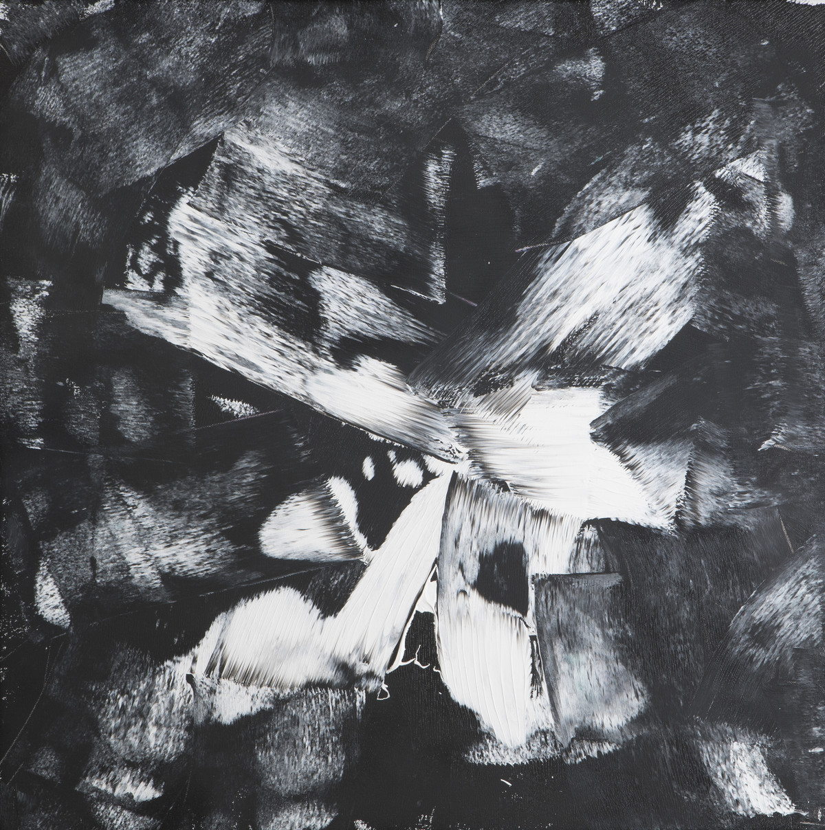 Smell of Fear by Bharat Thakur, Abstract, Abstract Painting, Acrylic on Canvas, Gray color