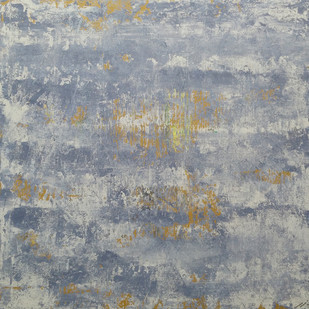 Nimbus by Saravana Kumar, Abstract Painting, Mixed Media on Canvas, Gray color