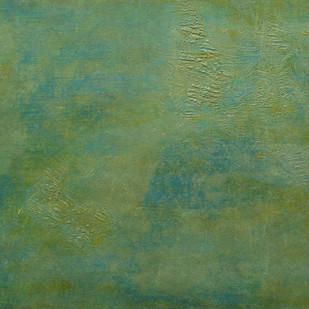 Algal Bloom by Saravana Kumar, Abstract Painting, Mixed Media on Canvas, Green color
