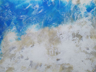 Littoral by Saravana Kumar, Abstract Painting, Mixed Media on Canvas, Gray color