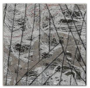 brazen 02 by Gunjan Arora & Rahul Jain, Abstract Textile, Mixed Media, Gray color
