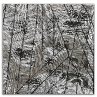 brazen 02 by Gunjan Arora & Rahul Jain, Abstract Textile, Mixed Media, Gray color