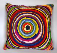 Chakri   multicolor    cushion cover  16 x 16