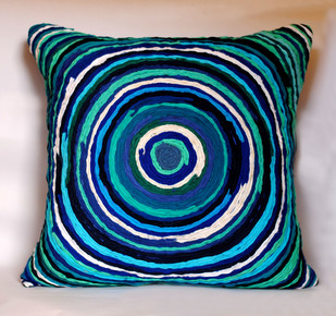 Katran Cushion : Blue Cushion Cover By Sahil & Sarthak