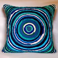Chakri   blue     cushion cover  20 x 20