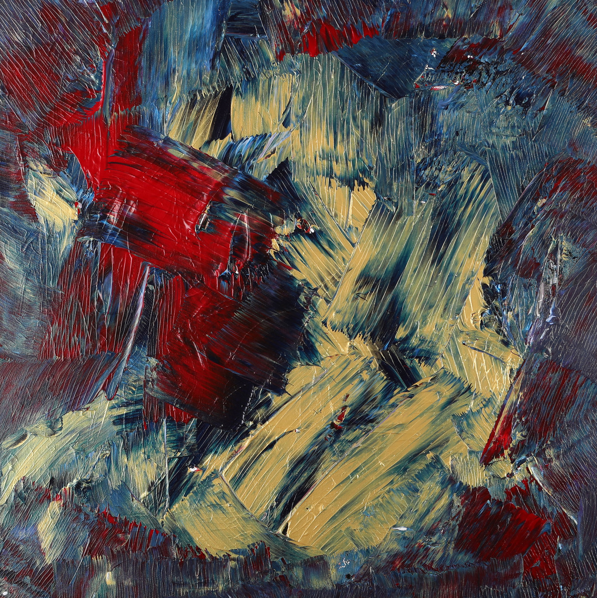 Sacred Infusion by Bharat Thakur, Abstract, Abstract Painting, Acrylic on Canvas, Brown color