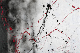 Primal Silence by Bharat Thakur, Abstract Painting, Acrylic on Canvas, Gray color