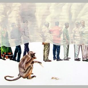 The line of wisdom 2 by Guru kinkar , Expressionism Painting, Acrylic on Canvas,