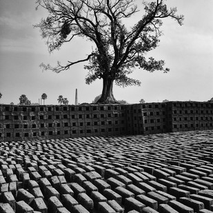 Brick field by Subhajit Dutta, Image, Image Photography, Digital Print on Paper, Gray color