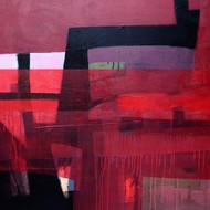 Untitled by Sudarshan Pandit, Geometrical Painting, Acrylic on Canvas, Pink color