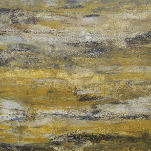 Ochre by Saravana Kumar, Abstract, Abstract Painting, Mixed Media on Canvas, Beige color