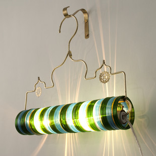 Thief of Baghdad Choori Lamp : Bamboo Green Wall Decor By Sahil & Sarthak