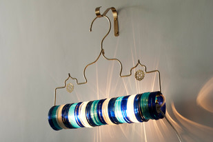 Thief of Baghdad Choori Lamp : Underwater Blue Wall Decor By Sahil & Sarthak
