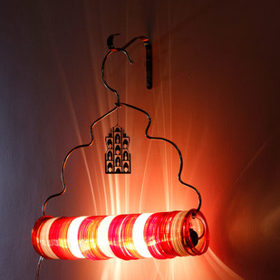Jaipur Choori Lamp : Festive Red Wall Decor By Sahil & Sarthak