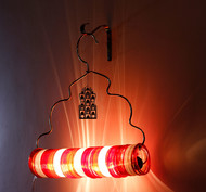 Jaipur choori lamp in red festive by sahil and sarthak2