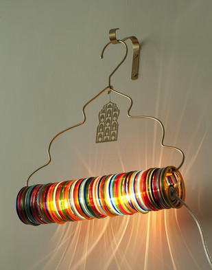 Jaipur Choori Lamp : Multicolor Wall Decor By Sahil & Sarthak