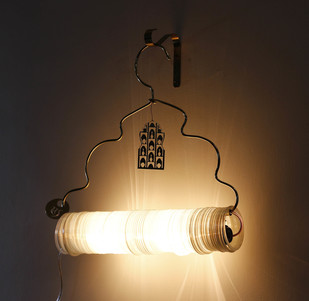 Jaipur Choori Lamp : White Wall Decor By Sahil & Sarthak