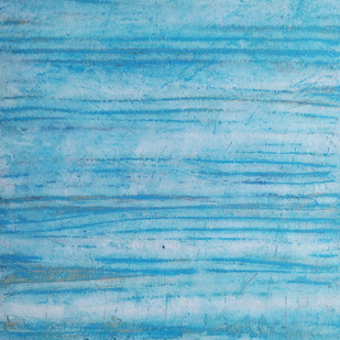 Albedo by Saravana Kumar, Abstract Painting, Acrylic on Canvas, Cyan color