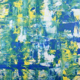 Wilderness of the Soul by Bharat Thakur, Abstract Painting, Acrylic on Paper, Cyan color