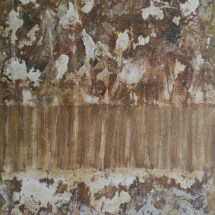 Untitled by Saravana Kumar, Abstract Painting, Acrylic on Canvas, Brown color