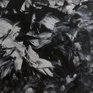 The Witness by Bharat Thakur, Abstract Painting, Acrylic on Paper, Gray color