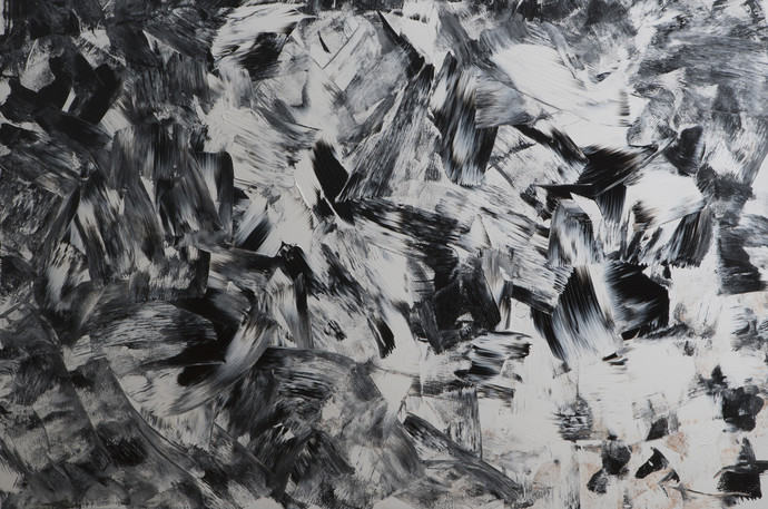 The Quest by Bharat Thakur, Painting, Acrylic on Canvas, Gray color