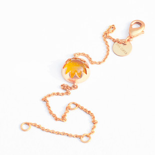 CABOCHON CUT CULTURED AMBER STONE BRACELET by Ikka Dukka Studio Pvt Ltd, Art Jewellery, Contemporary Bracelet
