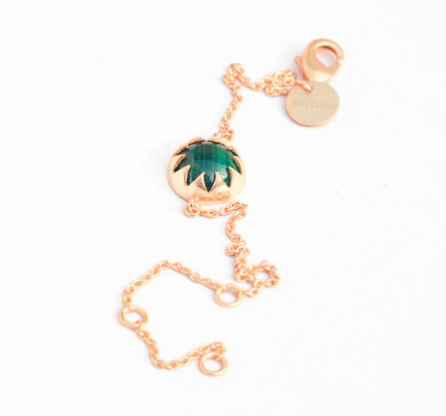 MALACHITE CABOCHON STONE BRACELET by Ikka Dukka Studio Pvt Ltd, Art Jewellery, Contemporary Bracelet