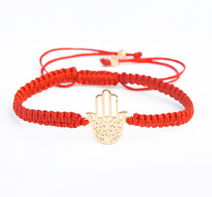 HAND OF HAMSA SILK CORD BRACELET by Ikka Dukka Studio Pvt Ltd, Contemporary Bracelet