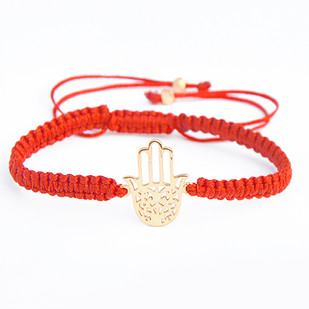 HAND OF HAMSA SILK CORD BRACELET Bracelet By Ikka Dukka Studio Pvt Ltd