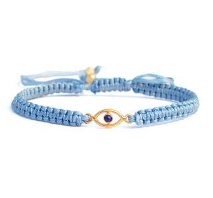 EVIL EYE LAPIS SILK CORD BRACELET Bracelet By Ikka Dukka Studio Pvt Ltd