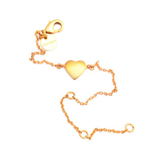 HEART CHAIN BRACELET by Ikka Dukka Studio Pvt Ltd, Art Jewellery, Contemporary Bracelet