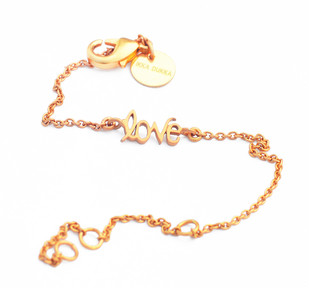 LOVE WORD CHAIN BRACELET Bracelet By Ikka Dukka