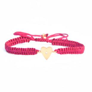 HEART CHARM SILK CORD BRACELET Bracelet By Ikka Dukka Studio Pvt Ltd