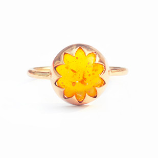CULTURED AMBER CABOCHON STONE RING by Ikka Dukka Studio Pvt Ltd, Contemporary Ring