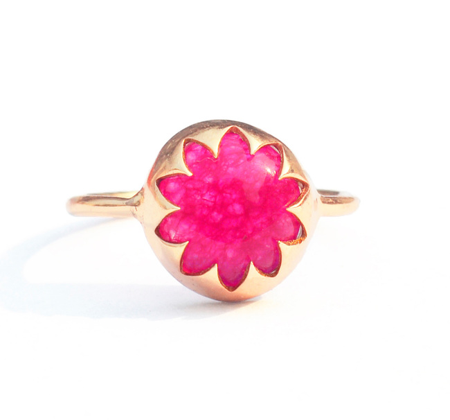 RED QUARTZ CABOCHON STONE RING by Ikka Dukka Studio Pvt Ltd, Art Jewellery, Contemporary Ring