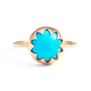 ARIZONA TURQUOISE CABOCHON STONE RING Ring By Ikka Dukka Studio Pvt Ltd