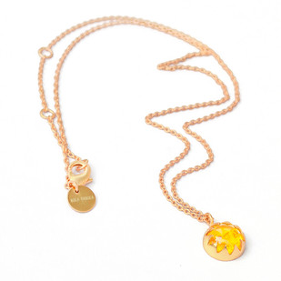 CULTURED AMBER CABACHON STONE PENDANT Pendant By Ikka Dukka Studio Pvt Ltd