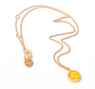 CULTURED AMBER CABACHON STONE PENDANT by Ikka Dukka Studio Pvt Ltd, Art Jewellery, Contemporary Pendant