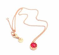 RED QUARTZ CABACHON STONE PENDANT by Ikka Dukka Studio Pvt Ltd, Art Jewellery, Contemporary Pendant