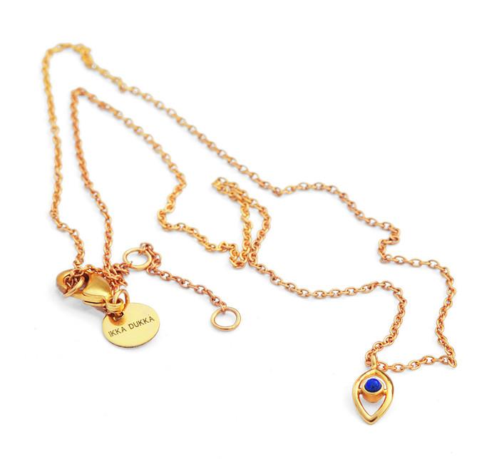 EVIL EYE LAPIS LAZULI PENDANT by Ikka Dukka Studio Pvt Ltd, Art Jewellery, Contemporary Pendant