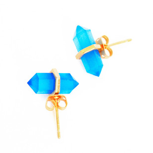 BLUE CHALCEDONY STONE EARRINGS Earring By Ikka Dukka Studio Pvt Ltd