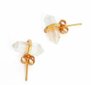 CRYSTAL QUARTZ STONE EARRINGS by Ikka Dukka Studio Pvt Ltd, Art Jewellery, Contemporary Earring