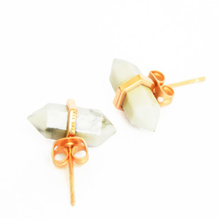 HOWLITE STONE EARRINGS by Ikka Dukka Studio Pvt Ltd, Art Jewellery, Contemporary Earring