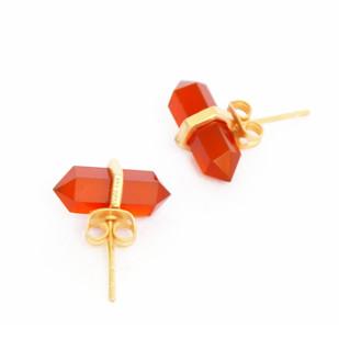 RED ONYX STONE EARRINGS Earring By Ikka Dukka Studio Pvt Ltd