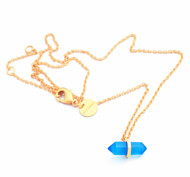 BLUE CHALCEDONY STONE PENDANT by Ikka Dukka Studio Pvt Ltd, Art Jewellery, Contemporary Pendant