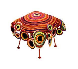 Chakri Seat : Multicolor Furniture By Sahil & Sarthak